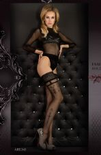Ballerina 343 Hold Ups Nero (Black)